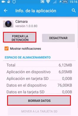 reparar cámara xperia android 5