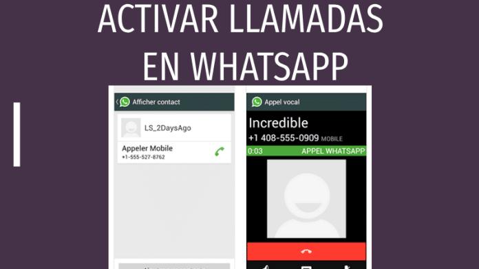 como activar llamadas en whatsapp