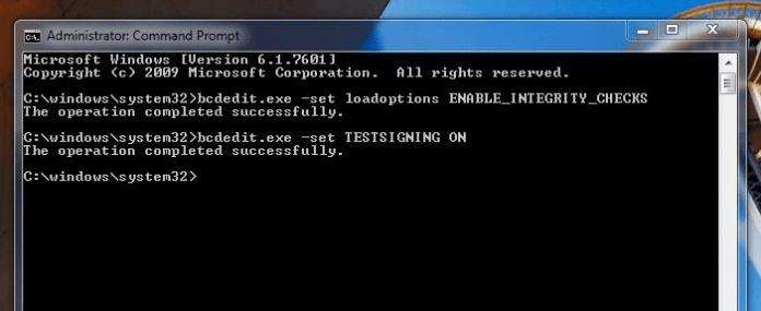 como desactivar la firma de controladores en windows 7