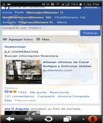 configurar ver imagenes en free facebook android