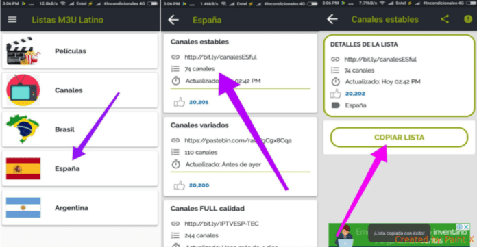 como conseguir listas iptv m3u para android 2018 gratis online