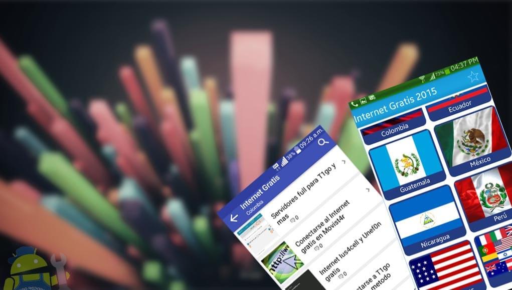 Tener internet gratis ilimitado en celulares Android 3G y 4G LTE