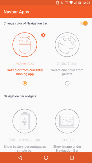 configurar navbar apps apk en android