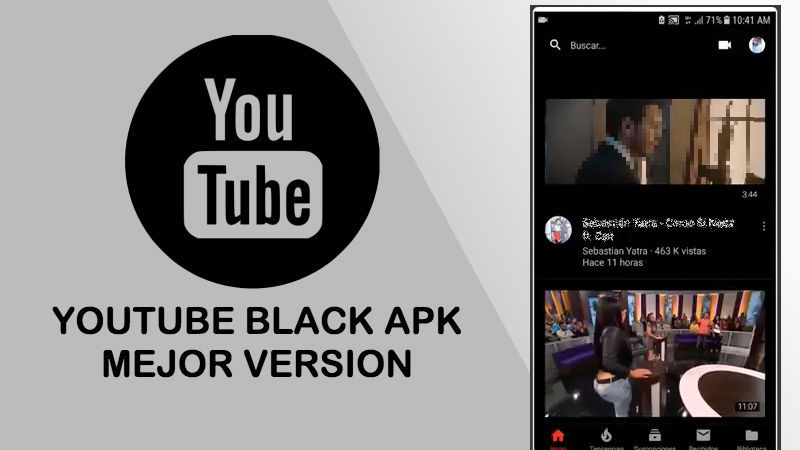 Youtube Black apk gratis para celulares y tablet Android 2019