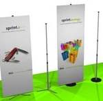Banner Stands lightweight portable - CoMotion.ca
