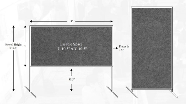 Poster board rental specifications