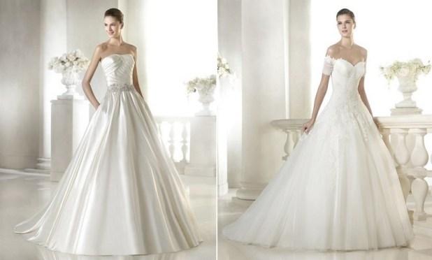 Vestidos satinados para novia