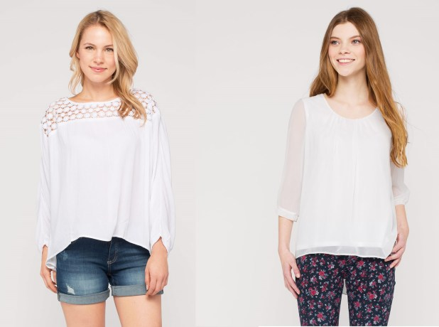 Blusas de moda en color blanco