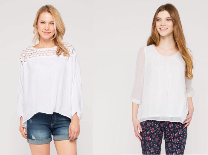 Blusas de moda en color blanco