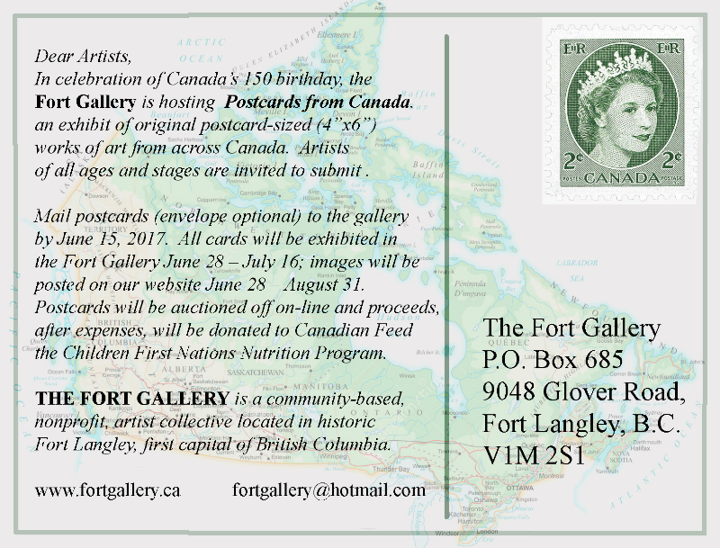 """Call for Entry: The Fort Gallery's """"Postcards from Canada"""""""