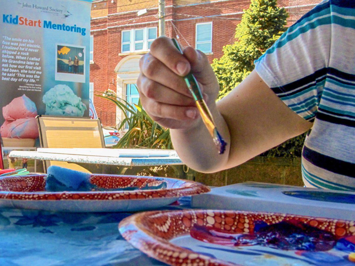 Kids' Art for KidStart Gallery Opening