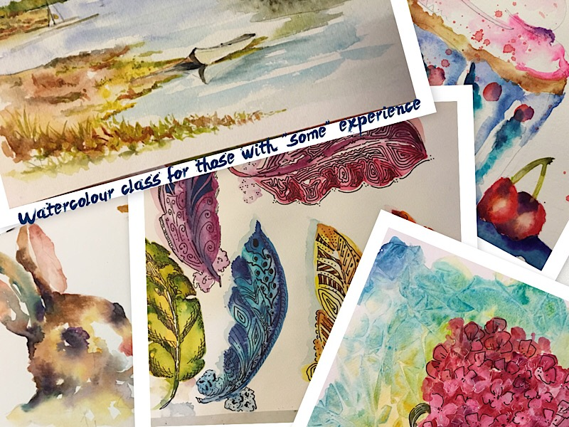 Beginner (NO experience) watercolour classes