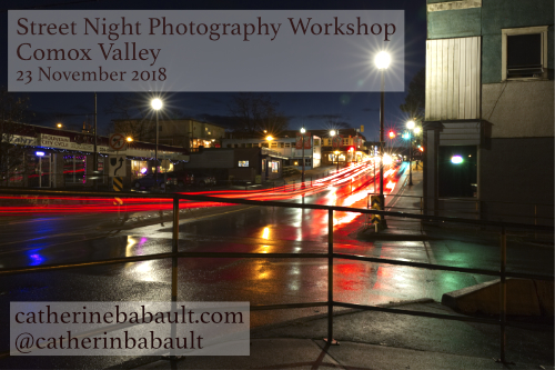 Comox Valley Street Night Photography