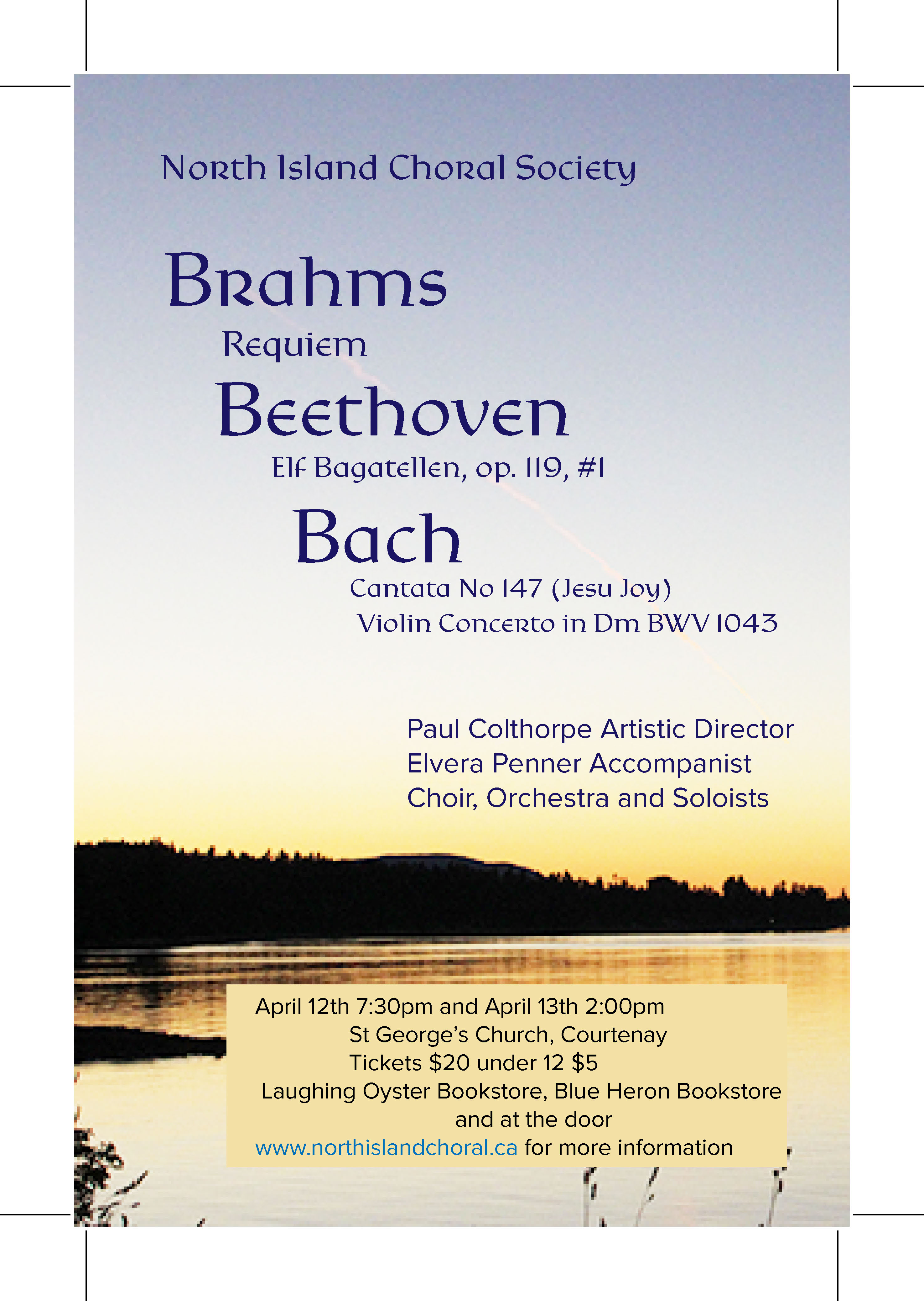 Brahms Requiem, Bach and Beethoven