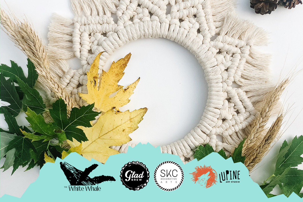 Crafts and Craft at the White Whale - Macrame Wreaths!