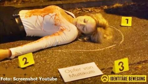 Straßen-Kunstaktion von IB und #120 Dezibel, um auf sexuelle Gewalt gegen Frauen aufmerksam zu machen | Foto: Screenshot Youtube