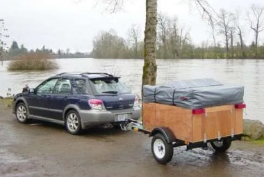 Explorer Box Compact camping trailer on the road by compact camping concepts
