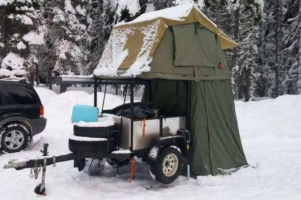 Roof Top Tent on Utility Trailer