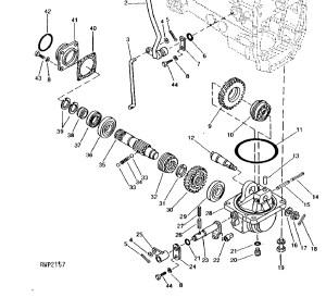 4WD Drop Box Bearing  CH14627  John Deere Compact Tractor Parts