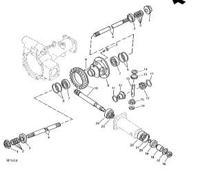 Front Axle Parts for John Deere Compact Tractors