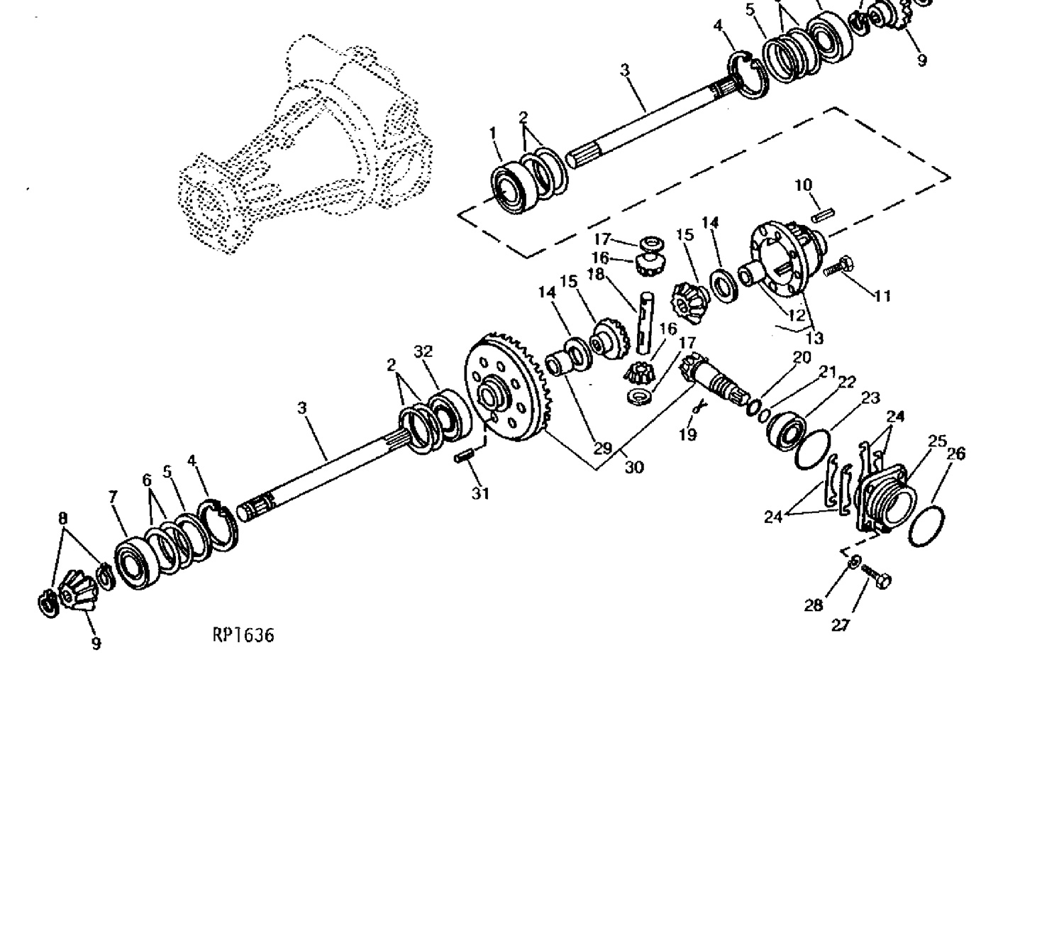 Front Axle Gear 4wd