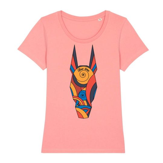 """T-shirt classica donna """"Slow Time Colored"""" rosa"""