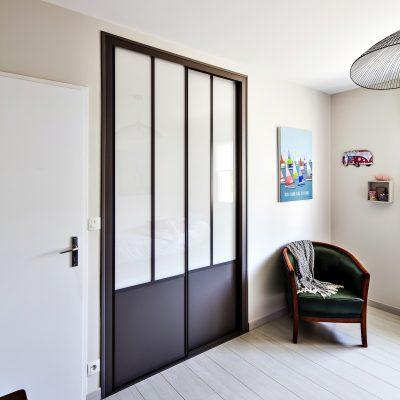 cloison atelier noire avec portes