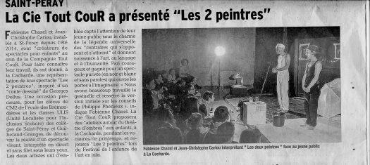 article du dauphine libéré sur les 2 peintres