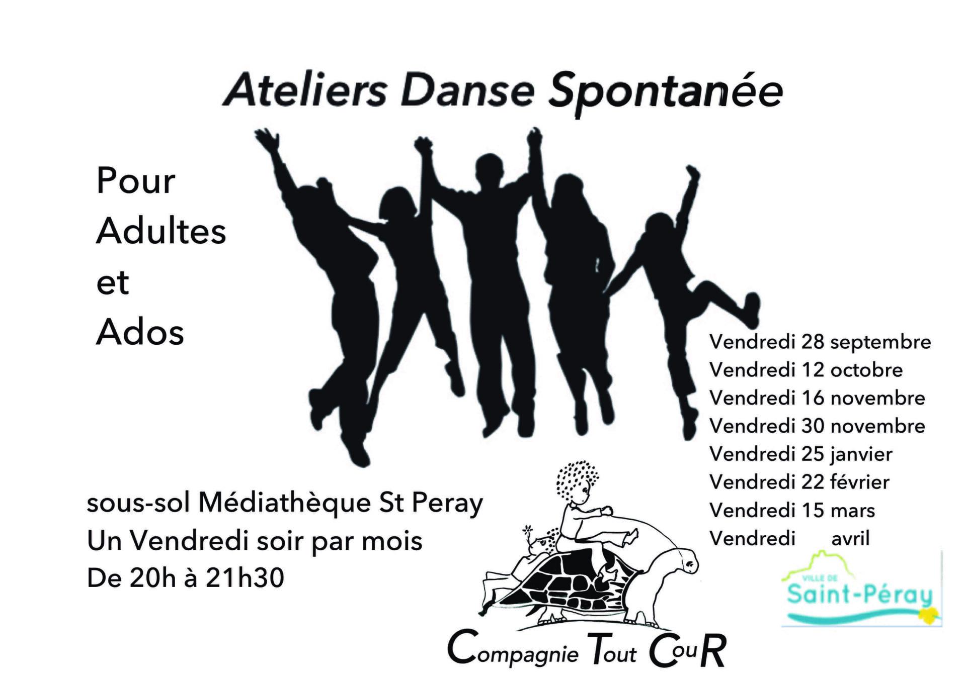 dates Ateliers dans spontanée 2018:19 Adultes