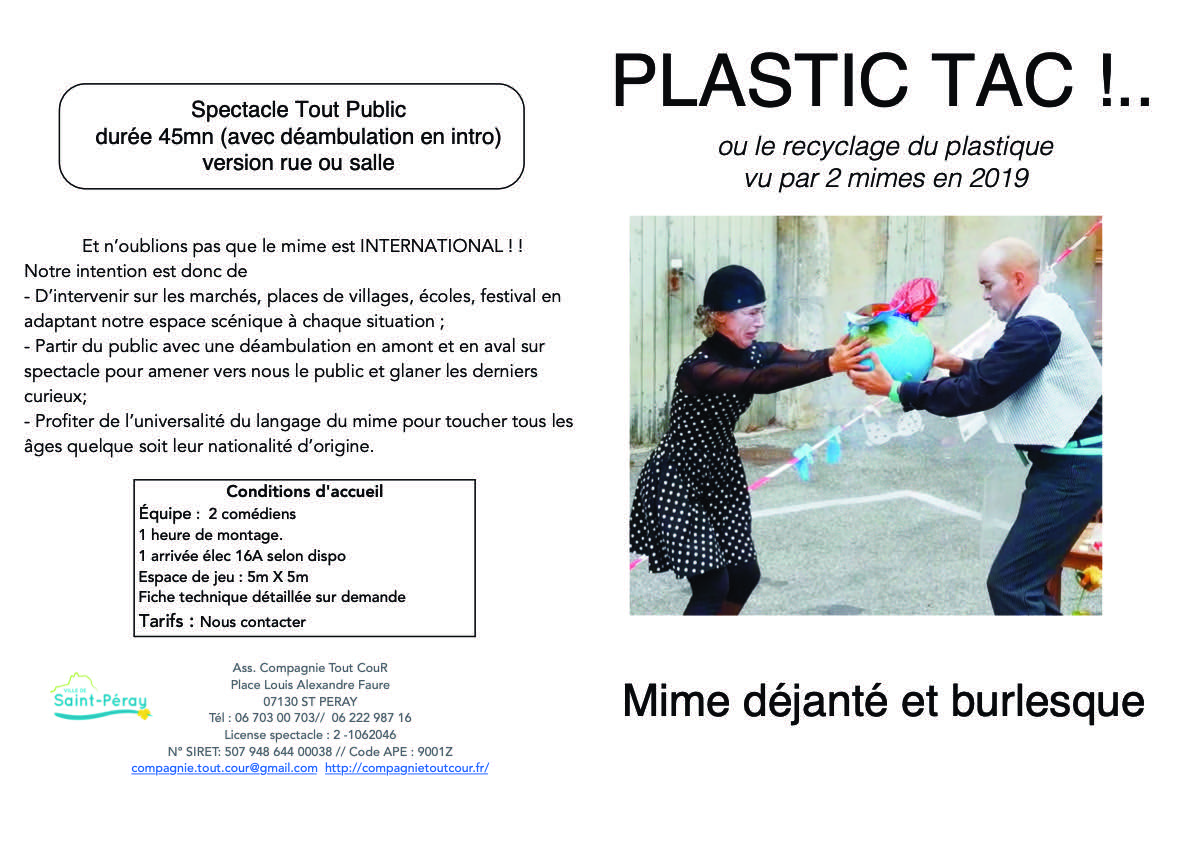 "Dossier artistique ""Plastic-Tac"""