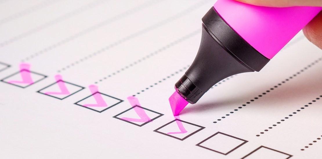 Company checklist