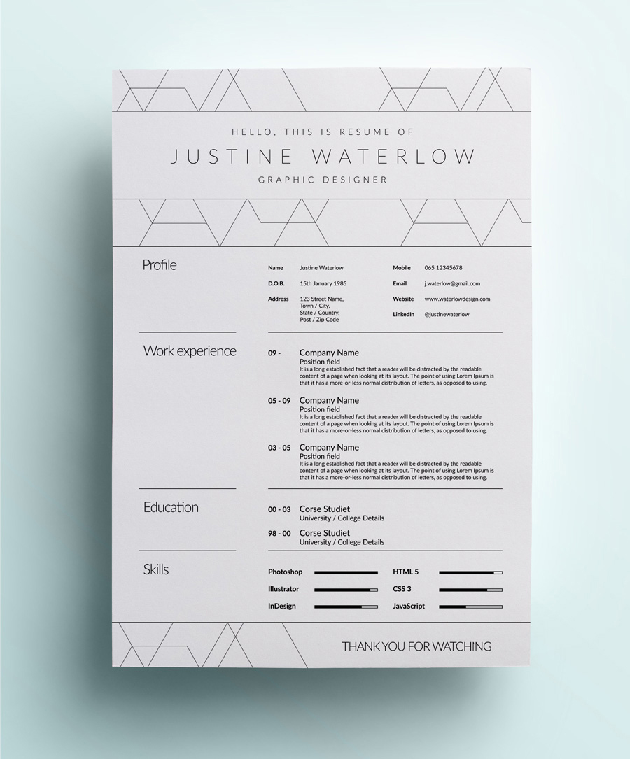 26 Best Graphic Design Resume Tips  with Examples  Graphic Design Resume Example with Whitespace