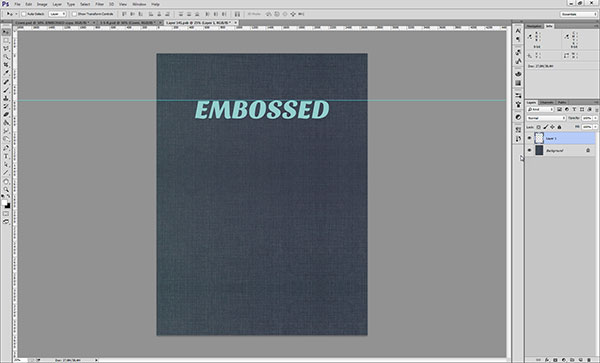 Creating an Embossed Effect in Photoshop - Step 2