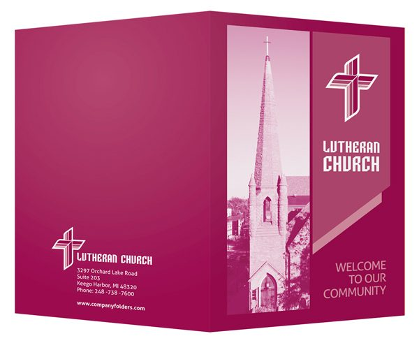 Magenta Lutheran Church Visitor Folder Design Template