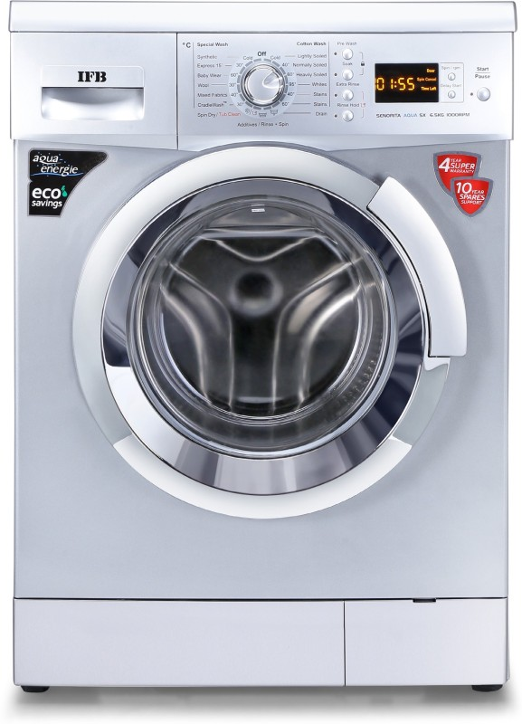 IFB 6.5 kg 3D Wash Fully Automatic Front Load with In-built Heater (Senorita Aqua SX 6.5)