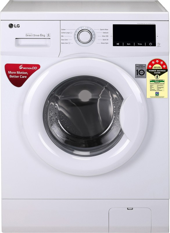 LG 6 kg Fully Automatic Front Load with In-built Heater (FHM1006ZDW)
