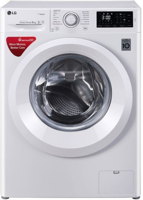 LG 6 kg Fully Automatic Front Load with In-built Heater (FHT1006HNW)