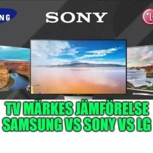 TV märkes jämförelse bästa tv märke