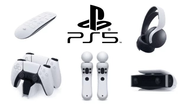 PS5 tillbehör alla playstation tillbehör med playstation logga