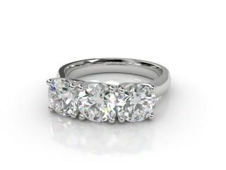 Trilogy 18ct. White Gold Round Brilliant-Cut Diamond-01-0533-2309