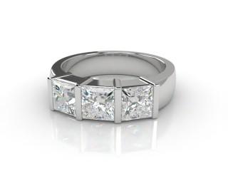Trilogy 18ct. White Gold Princess Diamond-02-0533-1018