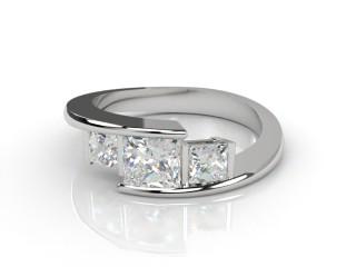 Trilogy 18ct. White Gold Princess Diamond-02-0533-2301