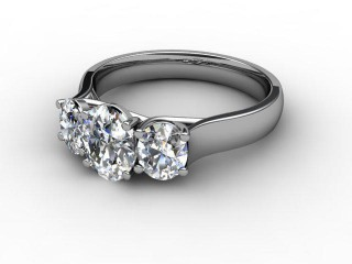 Trilogy 18ct. White Gold Oval-Cut Diamond-03-0533-2310