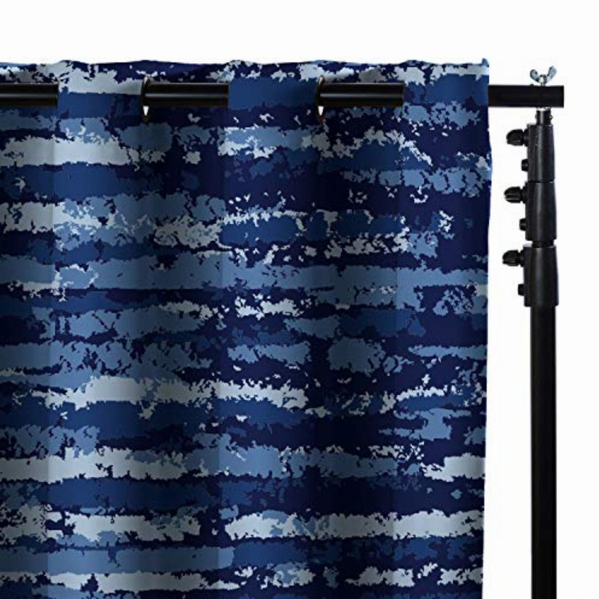 roomdividersnow freestanding room divider kit small b 9ft tall x 7ft 12ft 6in wide blue stripe