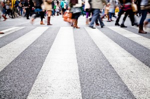 Pedestrians in the City Medium
