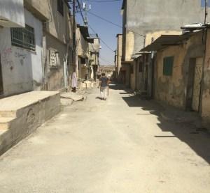 A street of Jerash refugee camp