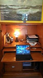 desk and ocean