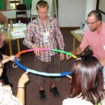 BACS participants engaged in an activity