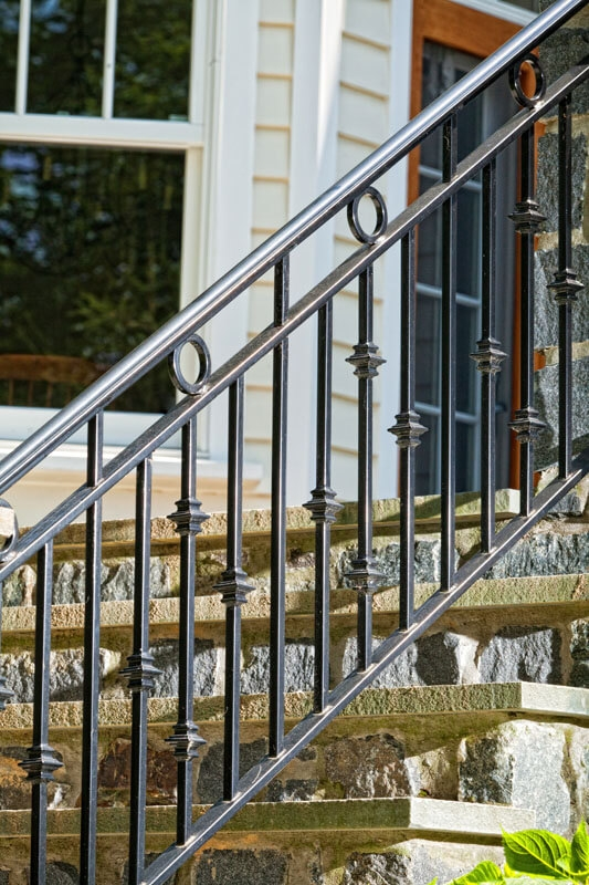 Exterior Railings Compass Iron Works   Ladder Railing Design Iron   Grill   Stair Parts   Wrought Iron   Metal   Banister