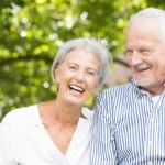 A happily matched senior couple